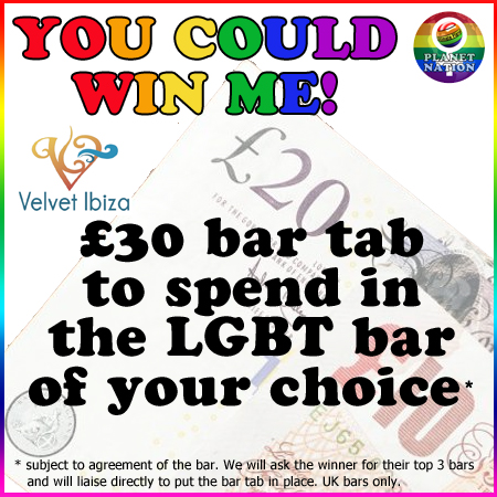 Win a £30 bar tab for use in a UK LGBT Venue with Planet Nation