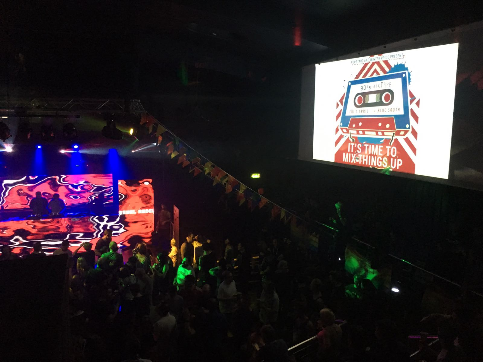 90s mixtape at Scala for Winter Pride