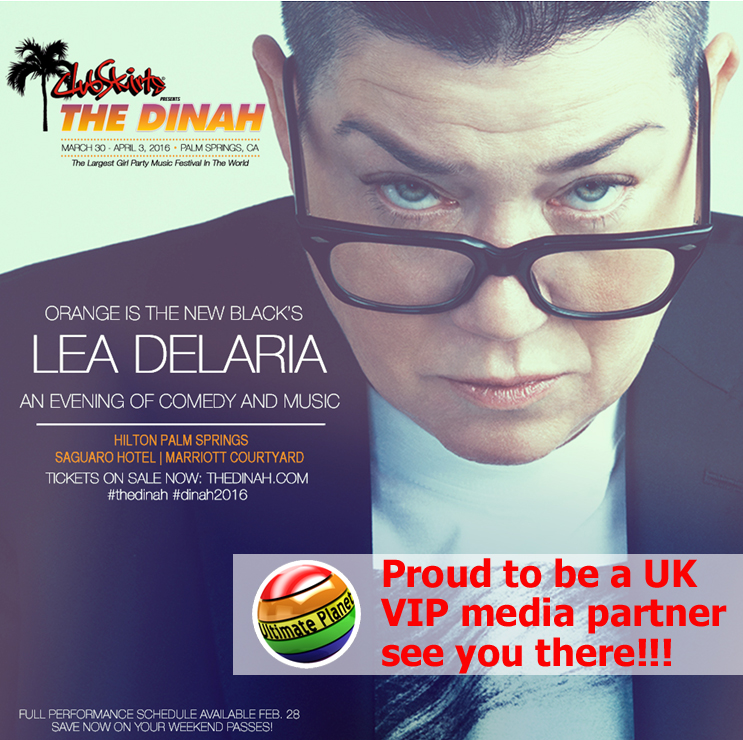 Lea DeLaria at The Dinah - Ultimate Planet attending in 2016