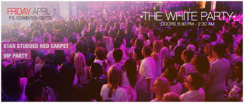 Friday 1 April - The White Party