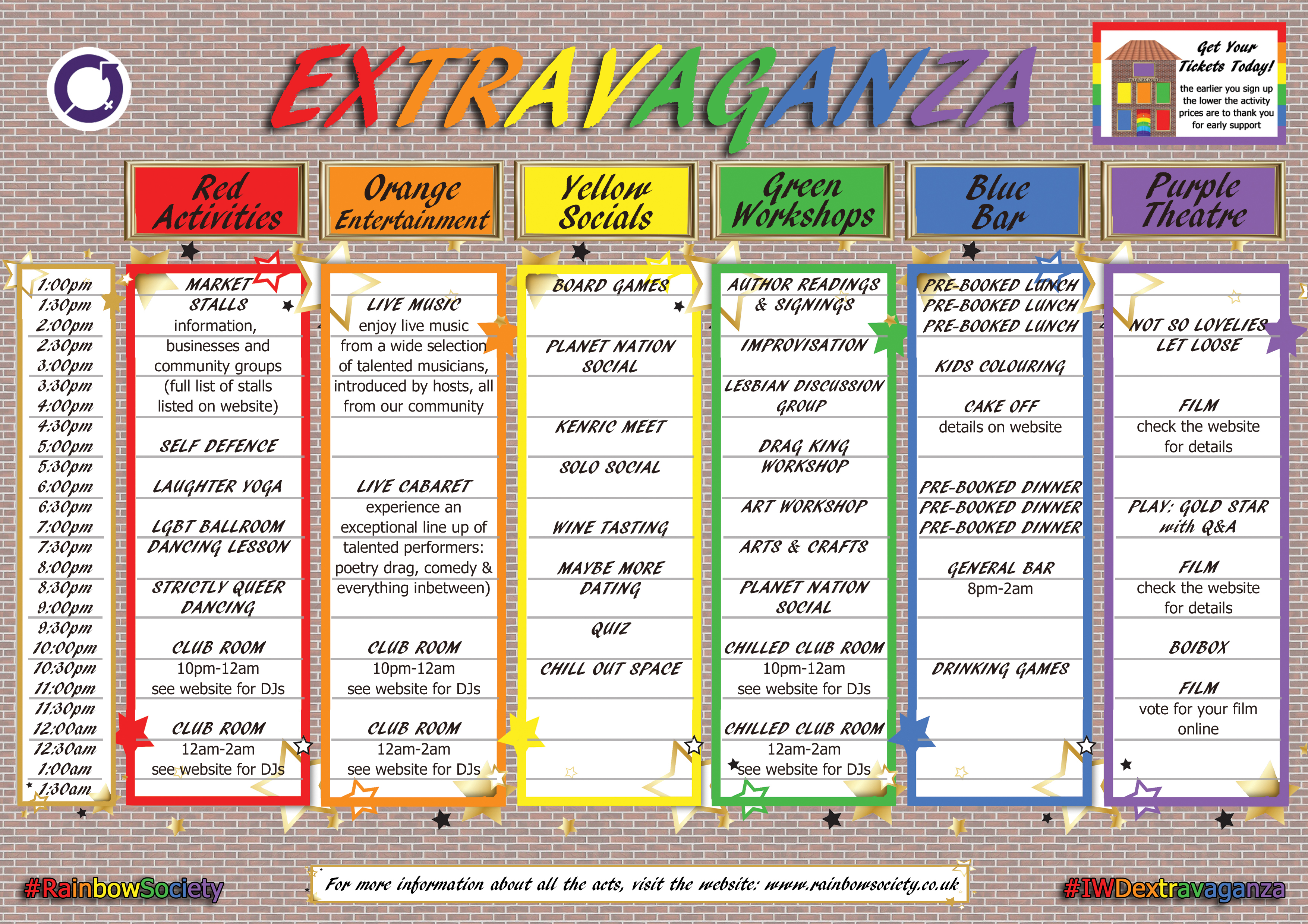 IWD Extravaganza Timetable