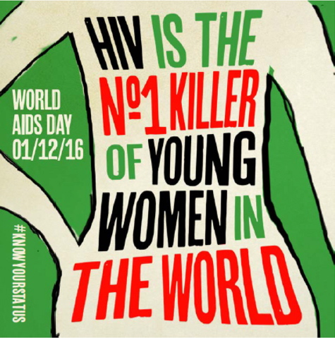 Know your status - HIV is the number 1 killer of young women in the world