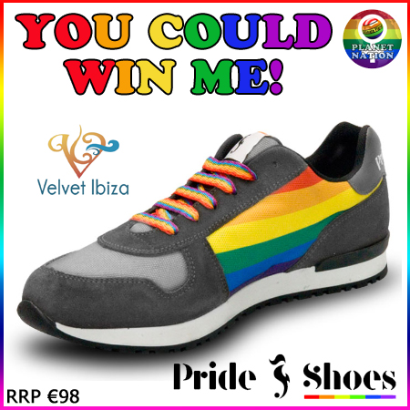 Win a set of Pride Shoes - Rainbow design worth €98 with Planet Nation