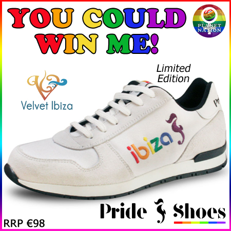 Win a set of Pride Shoes - limited edition Ibiza design worth €98 with Planet Nation