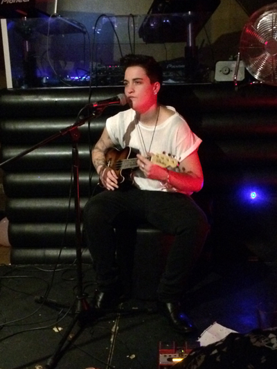 Sam Henwood performing at the Restless Dreamland album launch
