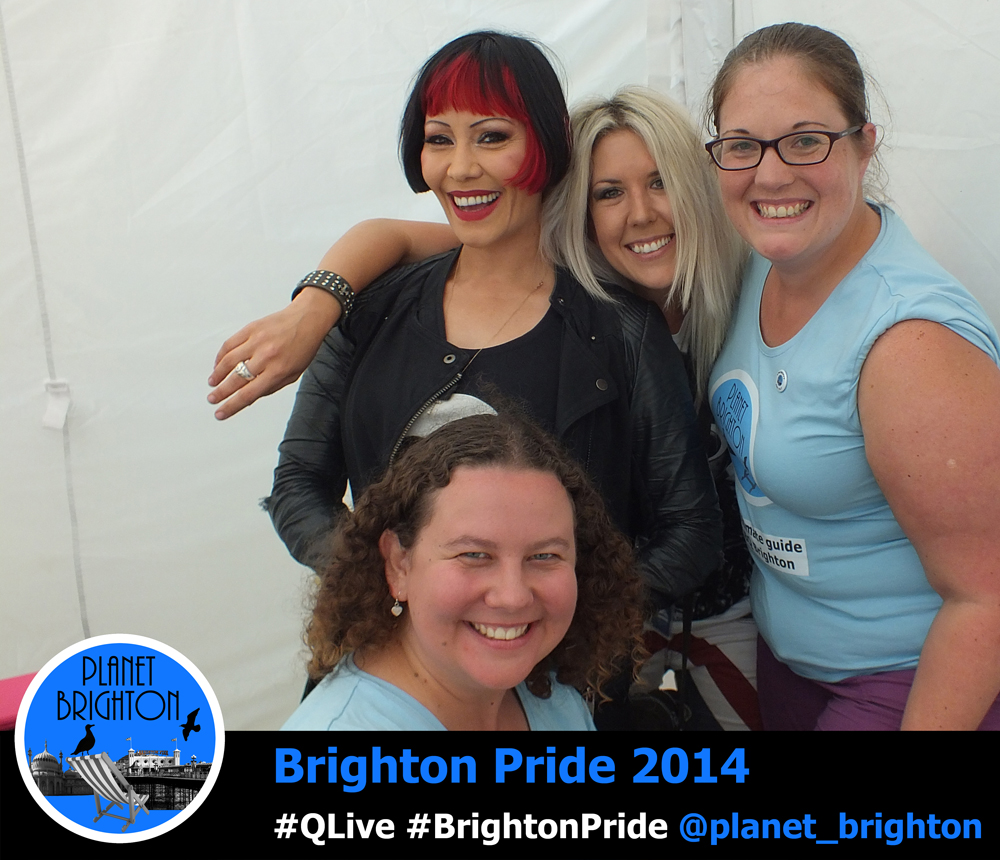 Saffron & Mel Sanson with Katie and Naomi at Brighton Pride in 2014
