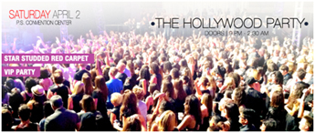 Saturday 2 April - The Hollywood Party with red carpet