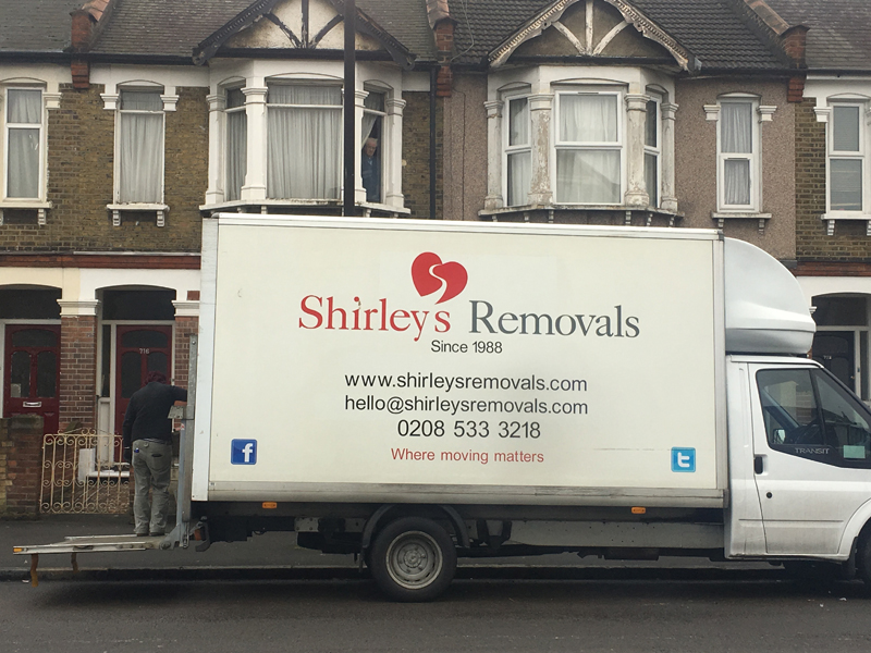 Shirley's Removals Van Side view