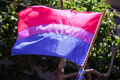 Proudly flying the bisexual flag